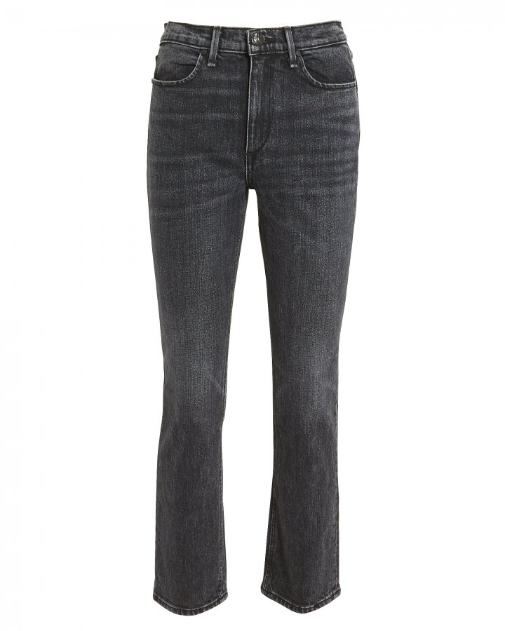 Cigarette Ankle Faded Black Jeans