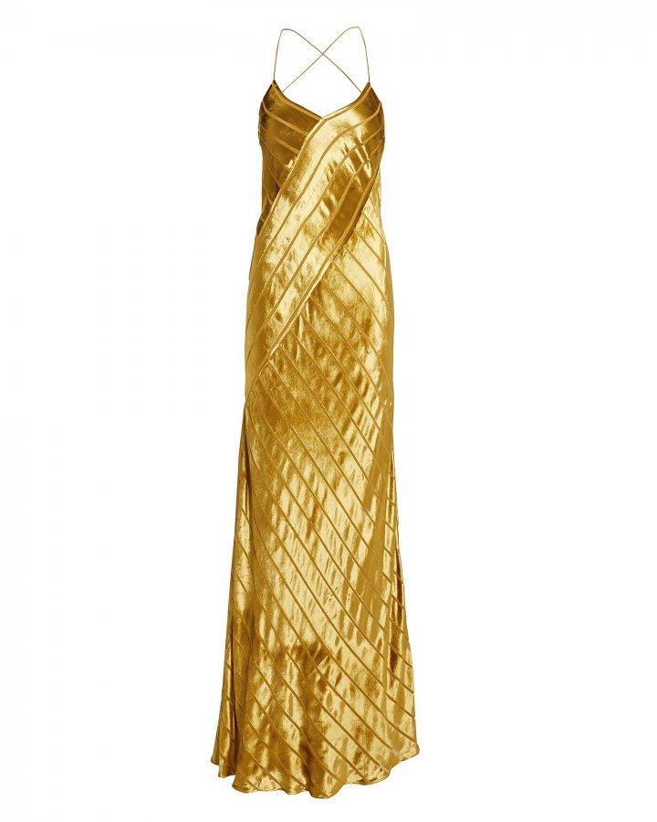Topaz Velvet Stripe Gown