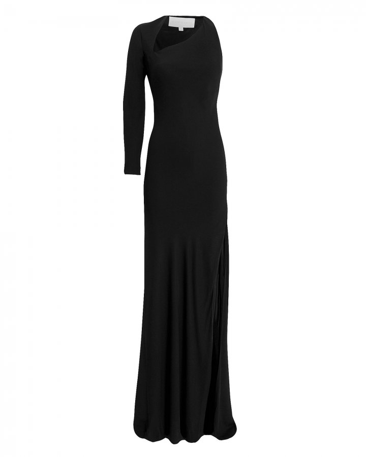 Asymmetric Cutout Gown