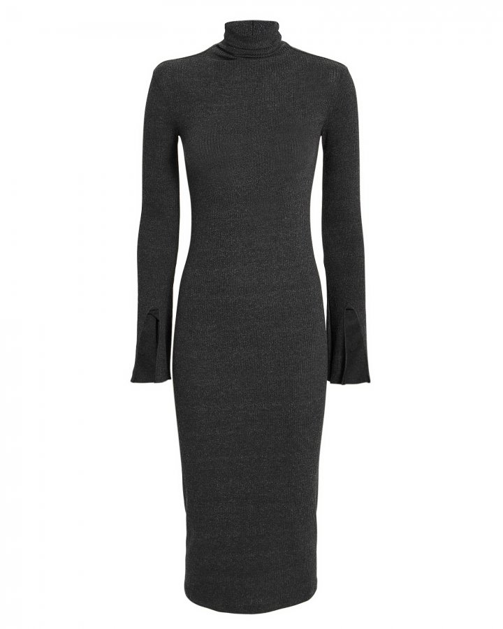 Split Sleeve Turtleneck Dress
