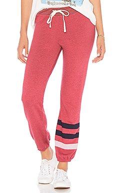Stripe Basic Sweatpants                                             SUNDRY