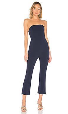 Collins Strapless Jumpsuit                                             About Us
