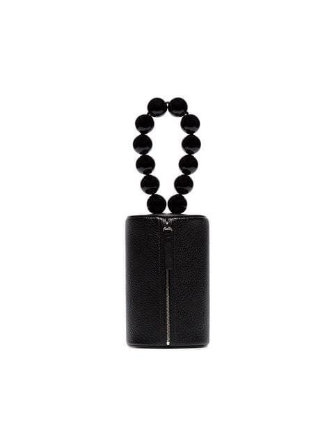 Building Block Cylindrical Bag With Beaded Bracelet Handle  - Farfetch