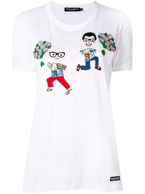 Dolce & Gabbana Embroidered T-shirt - Farfetch