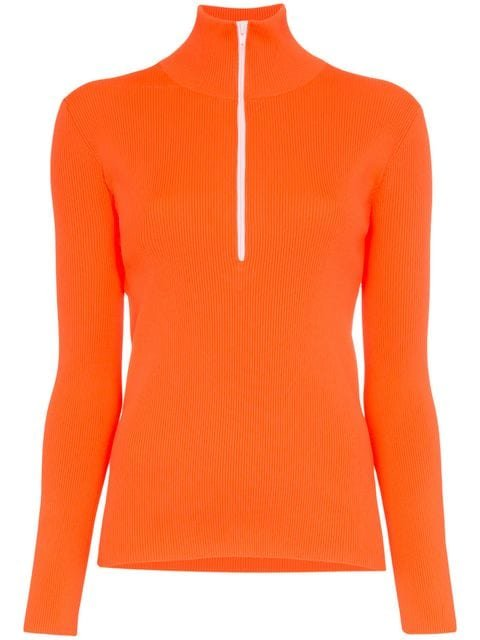 Tibi High Neck Knitted Track Top - Farfetch