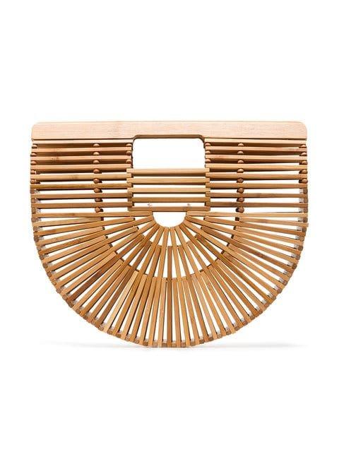 Cult Gaia Brown Ark Small Bamboo Clutch Bag - Farfetch