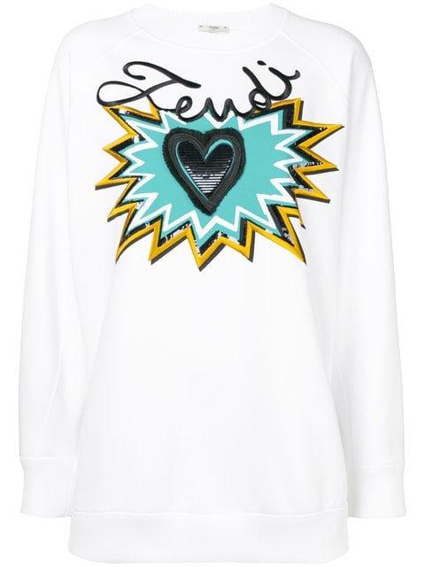 Fendi Logo Motif Sweatshirt - Farfetch