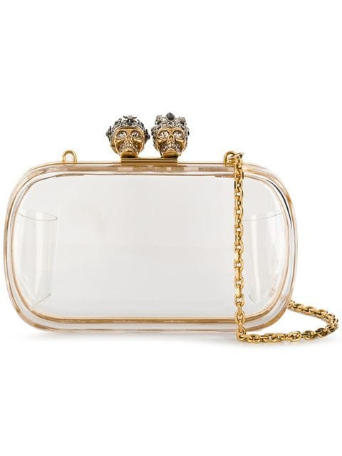 Alexander McQueen Embellished Skull Clutch Bag - Farfetch