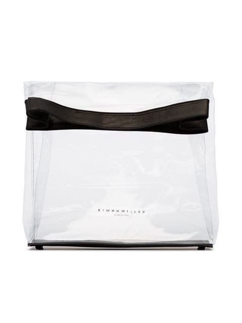 Simon Miller Black And Transparent Lunchbag 30 PVC Bag - Farfetch
