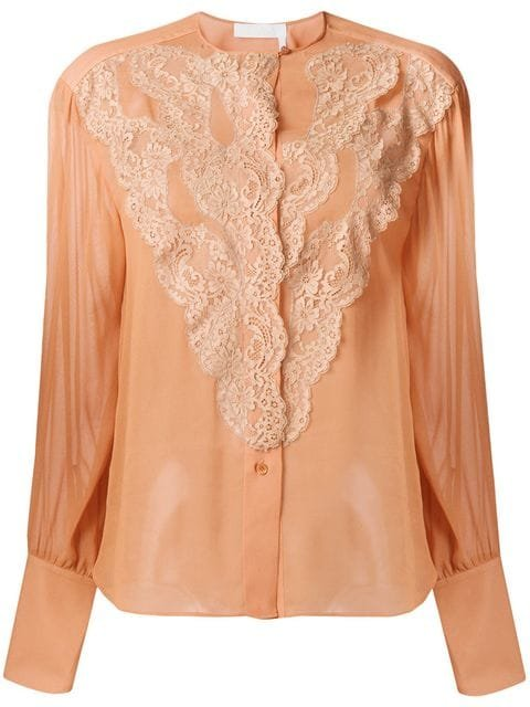Chloé Scalloped Lace Blouse - Farfetch