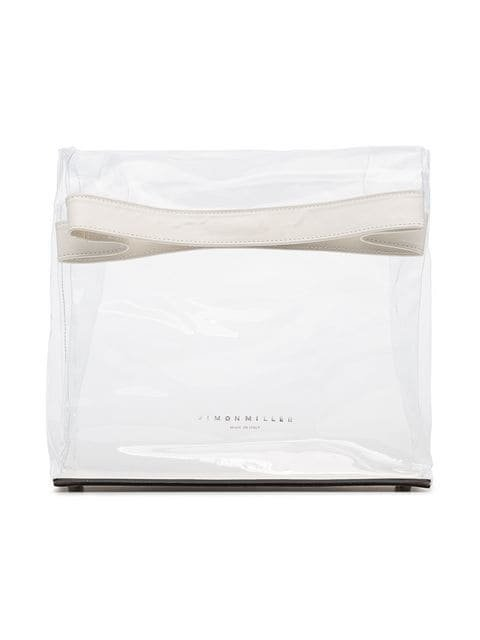 Simon Miller White And Transparent Lunchbag 30 PVC Clutch Bag - Farfetch