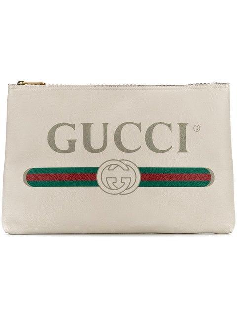 Gucci Gucci Logo Clutch - Farfetch