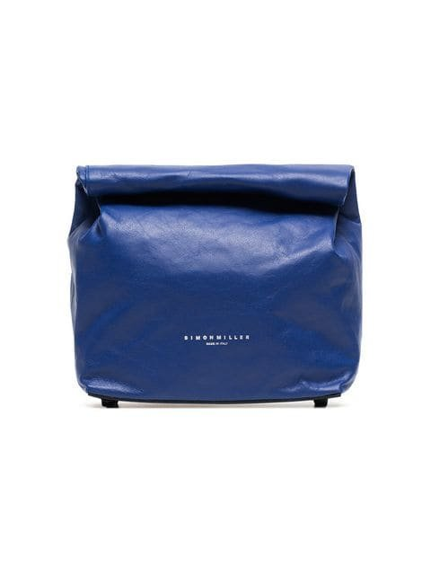 Simon Miller Blue Lunchbag 20 Leather Clutch Bag - Farfetch