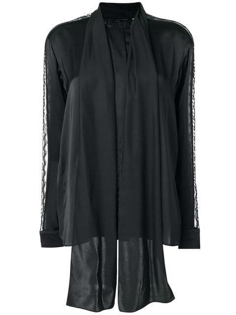 Stella McCartney Lace Panel Scarf Detail Shirt - Farfetch