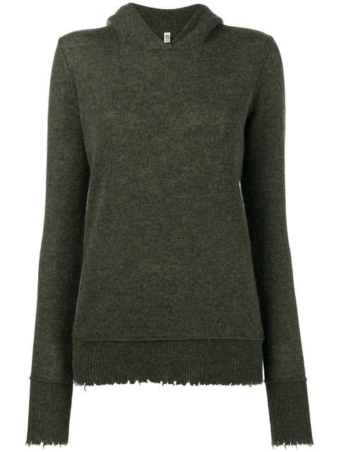 R13 Oversized Cashmere Distressed Hoodie - Farfetch