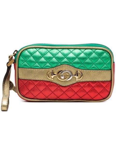 Gucci Leather Metallic Quilted Purse  - Farfetch