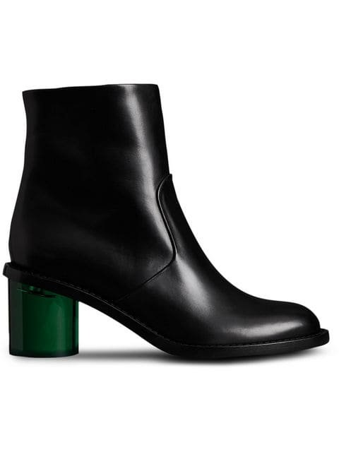 Burberry Two-tone Leather Block-heel Boots - Farfetch