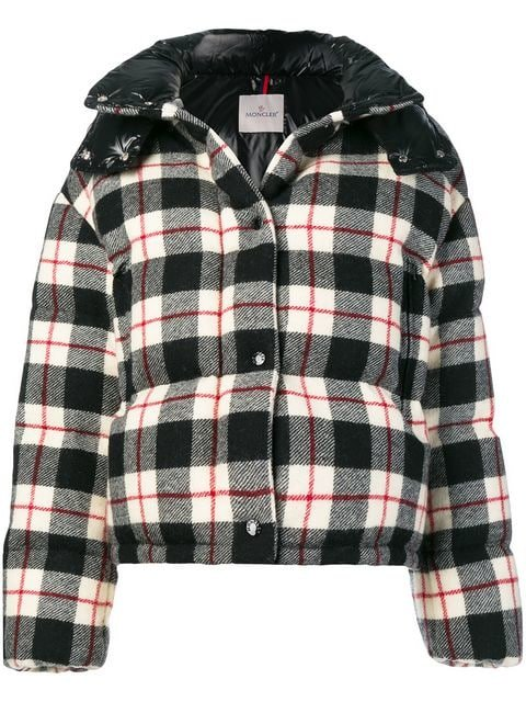 Moncler Checked Puffer Jacket - Farfetch