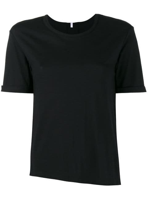 Lot78 Black Cashmere Blend Side Split T Shirt - Farfetch