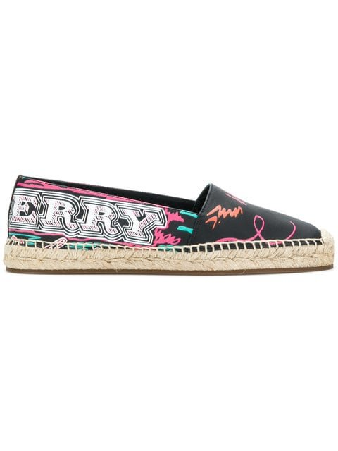 Burberry Printed Canvas Espadrilles - Farfetch