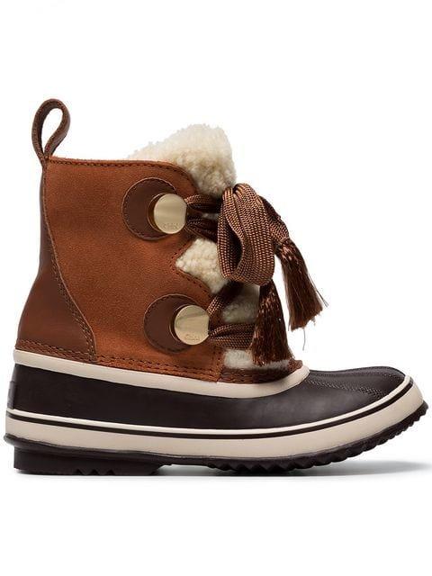 Chloé x Sorel Crosta Suede Ski Boots - Farfetch