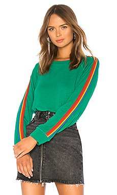 x REVOLVE Vintage Rainbow Stripe Raglan Sweatshirt                                             MONROW