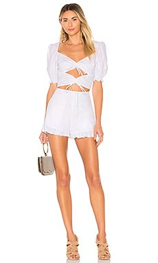 x REVOLVE Ruffled Romper                                             For Love & Lemons