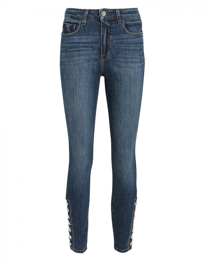Piper Ankle Hem Button Jeans