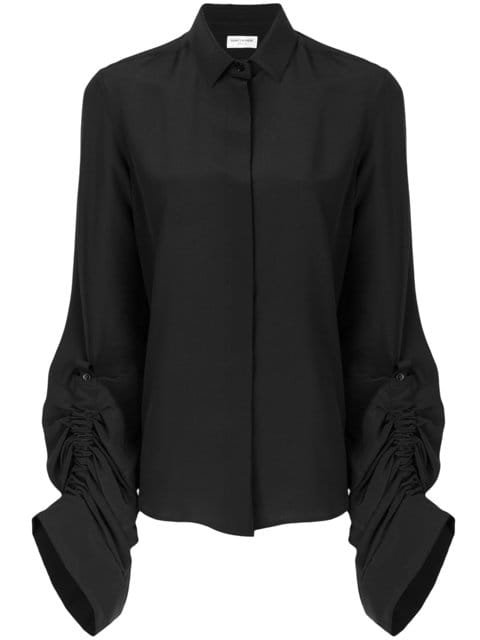 Saint Laurent Oversized Sliding Sleeves Shirt  - Farfetch