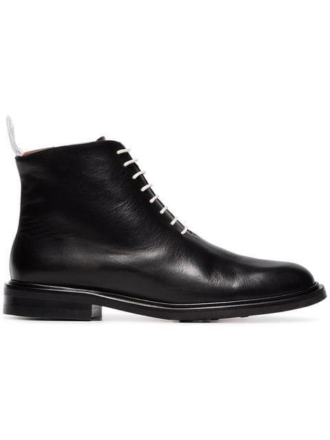 Atp Atelier Black Erica Lace-up Leather Combat Boots - Farfetch
