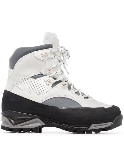 Ganni Sarai Leather Hiking Boots - Farfetch