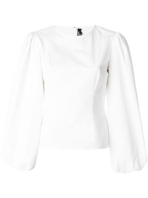 Calvin Klein 205W39nyc Round Sleeve Poplin Top - Farfetch