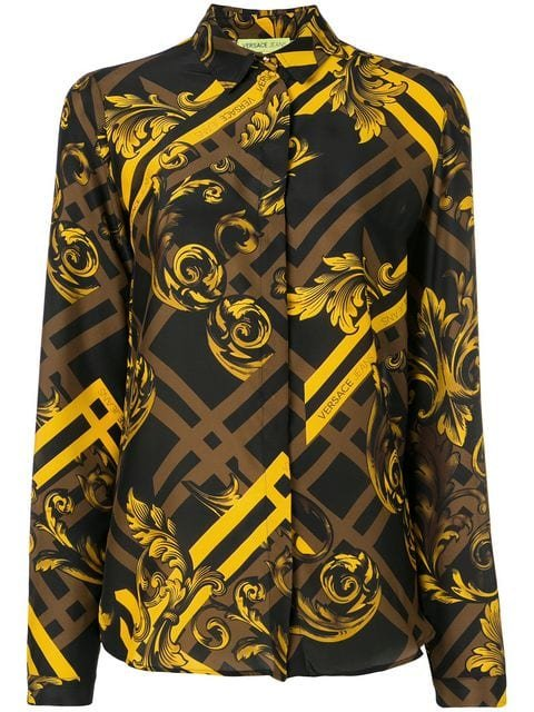 Versace Jeans Baroque Silk Shirt - Farfetch