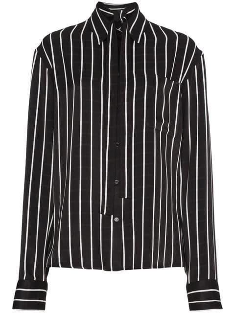 Haider Ackermann Striped Satin Shirt - Farfetch