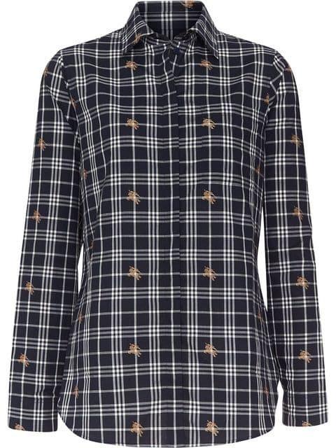Burberry Fil Coupé Check Cotton Shirt - Farfetch