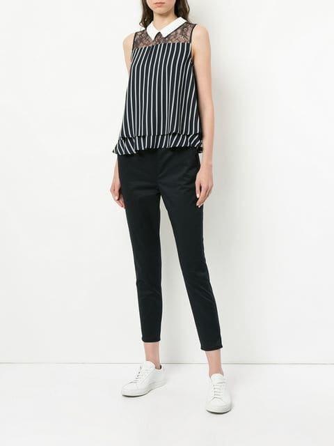 Loveless Striped Sleeveless Shirt - Farfetch