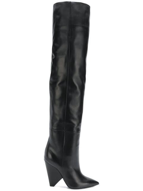 Saint Laurent Knee-length Boots - Farfetch