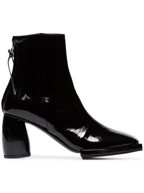 Reike Nen Square Toe Patent Leather Ankle Boots - Farfetch
