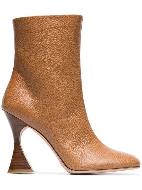 Sies Marjan Toffee Brown Emma 100 Leather Boots - Farfetch