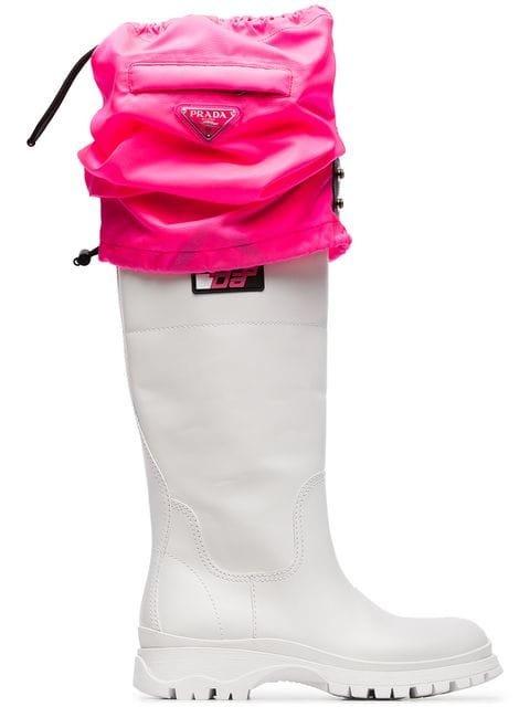Prada Knee-High Rain Boots  - Farfetch