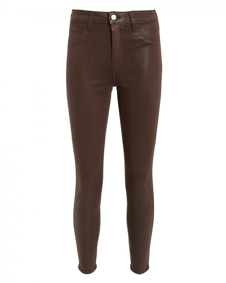 Margot Cocoa Coated Skinny Jeans