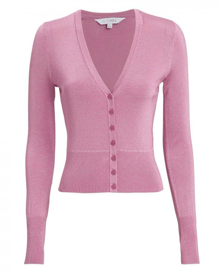 Celestine Pink Lurex Cardigan