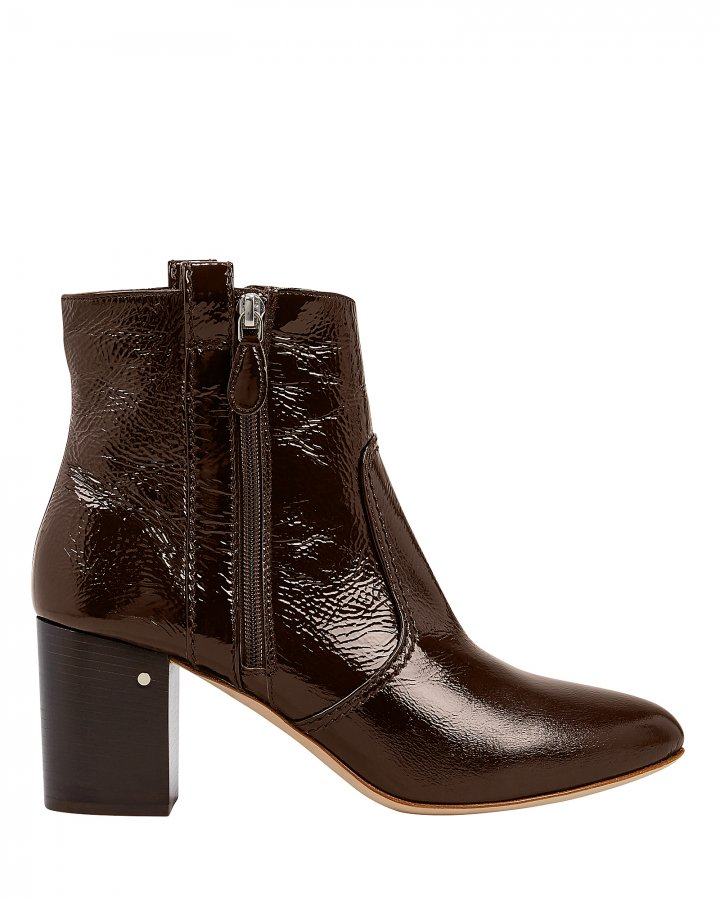 Silane Patent Leather Booties