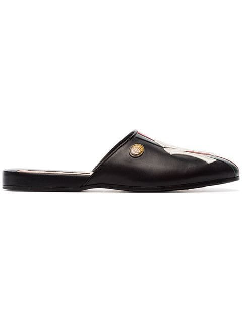 Gucci NY Yankees Leather Slippers - Farfetch