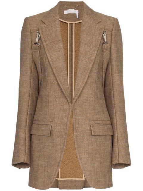 Chloé Clip On Strap Wool Blazer - Farfetch