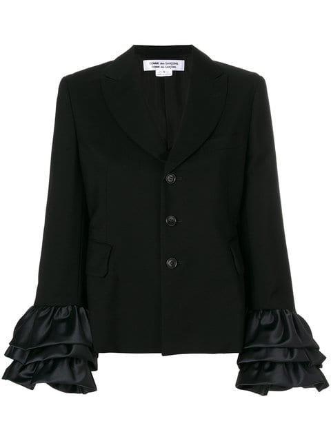 Comme Des Garçons Comme Des Garçons Ruffle Sleeved Button Jacket - Farfetch