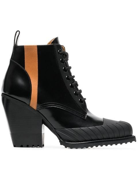 Chloé 90 Rylee Leather Ankle Boots - Farfetch