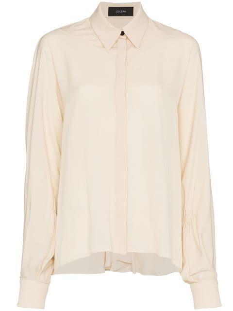 Joseph Yeats Gathered Sleeve Silk Shirt - Farfetch