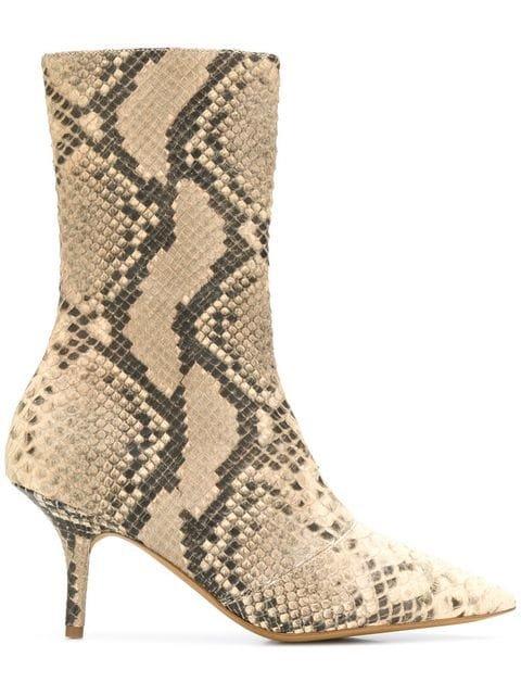 Yeezy Snake Pattern Boots - Farfetch