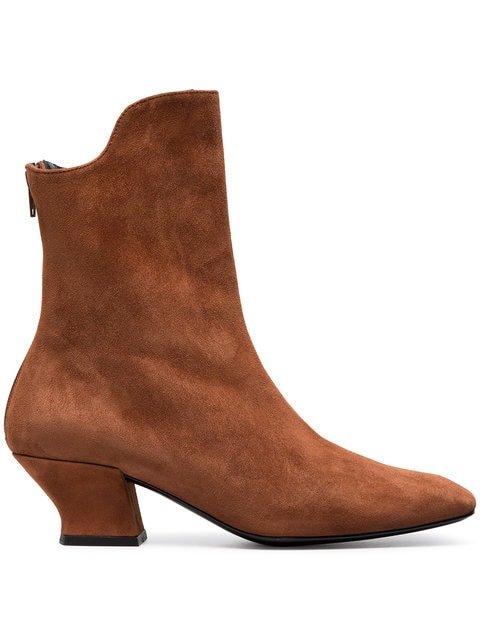 Dorateymur Brown Han 50 Suede Ankle Boots - Farfetch